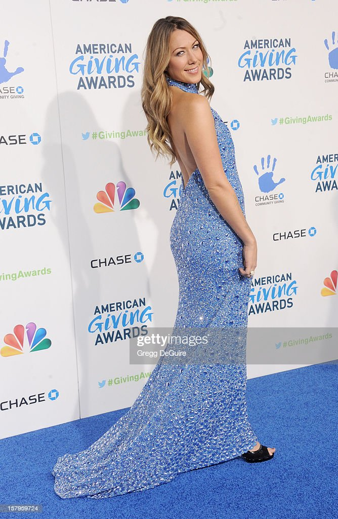 Singer Colbie Caillat arrives at the 2nd Annual American Giving Awards at the Pasadena Civic Auditorium on December 7, 2012 in Pasadena, California.