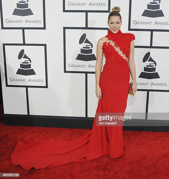 Singer Colbie Caillat arrives at the 56th GRAMMY Awards at Staples Center on January 26 2014 in Los Angeles California