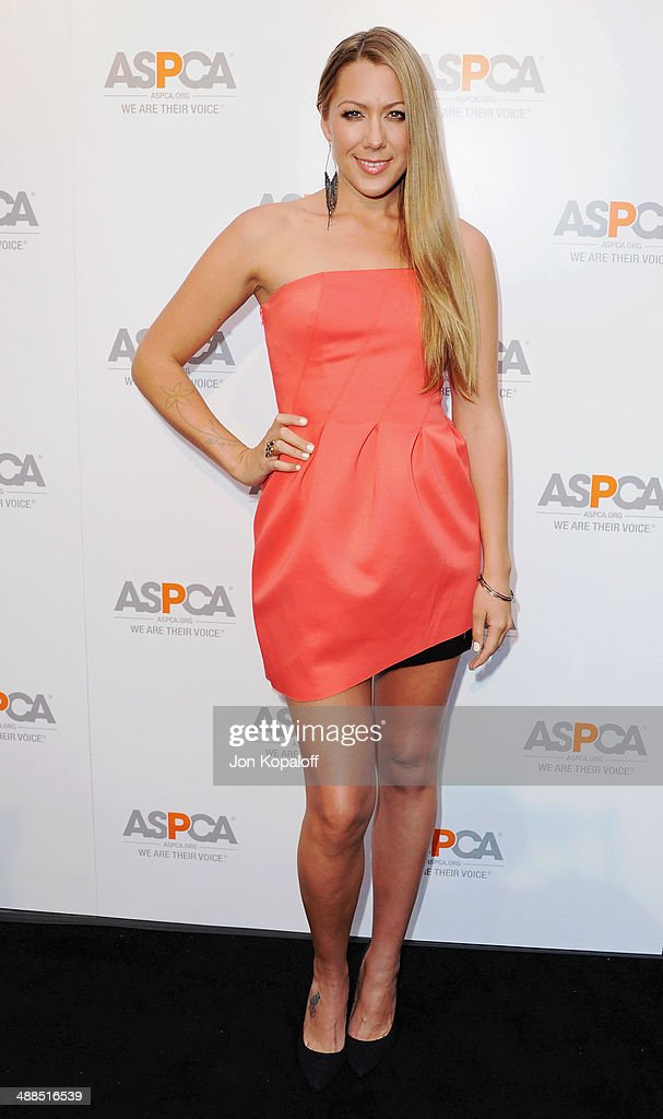 Singer Colbie Caillat arrives at The American Society For The Prevention Of Cruelty To Animals Celebrity Cocktail Party on May 6 2014 in Beverly...