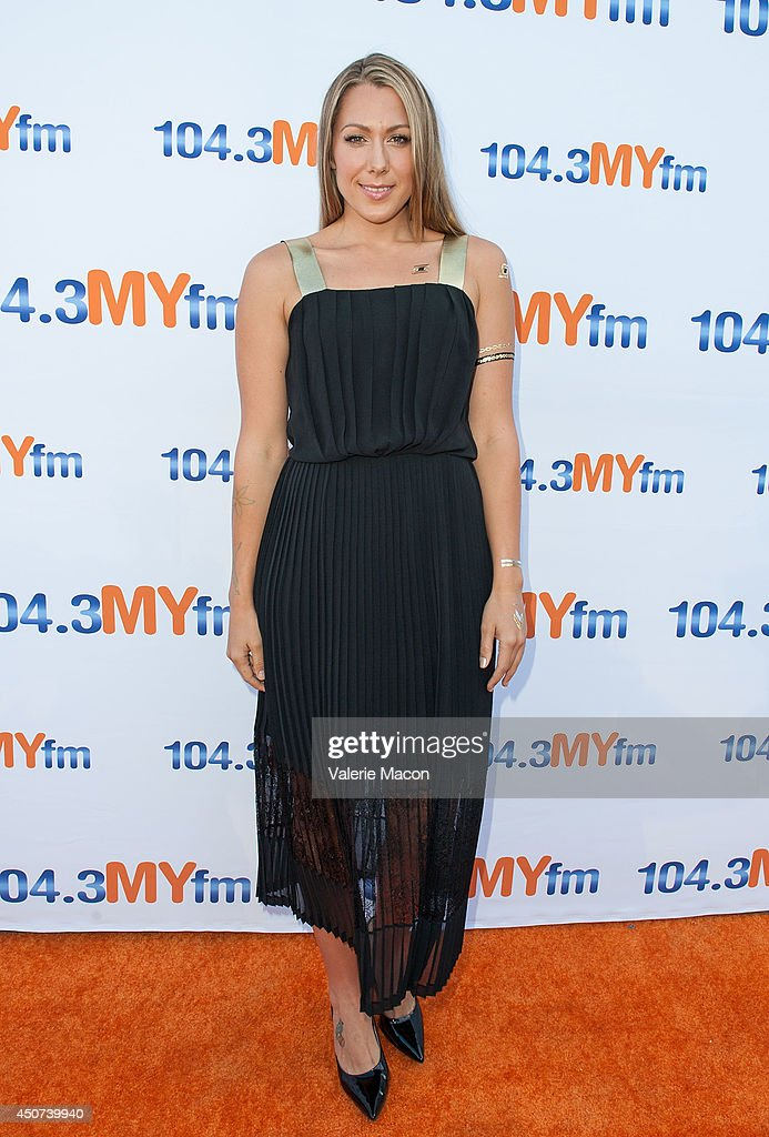 Singer Colbie Caillat attends 1043 MY FM Presents My Big Night Out at the Hollywood Bowl on June 16 2014 in Hollywood California