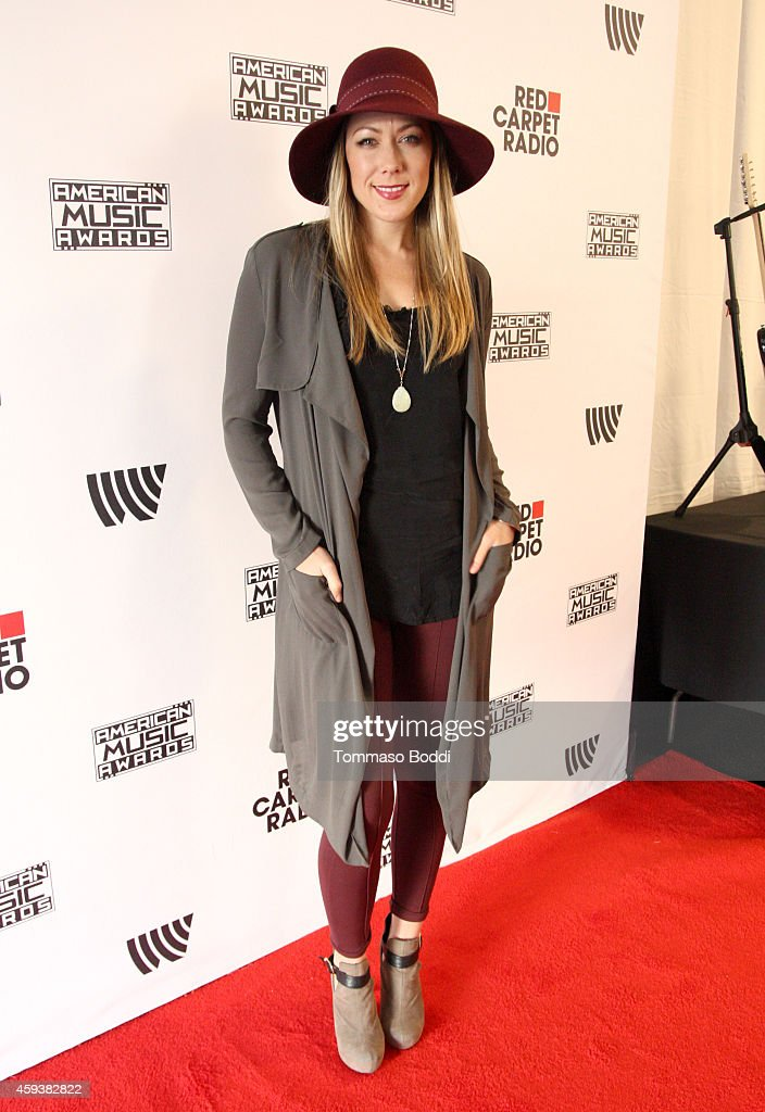 Singer Colbie Caillat attends the 2014 American Music Awards Radio Row at Nokia Theatre LA Live on November 21 2014 in Los Angeles California
