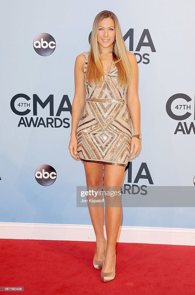 Singer <a gi-track='captionPersonalityLinkClicked' href=/galleries/search?phrase=Colbie+Caillat&family=editorial&specificpeople=4410812 ng-click='$event.stopPropagation()'>Colbie Caillat</a> attends the 47th annual CMA Awards at the Bridgestone Arena on November 6, 2013 in Nashville, Tennessee.