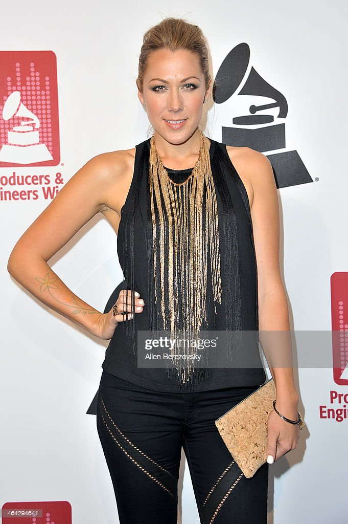 Singer <a gi-track='captionPersonalityLinkClicked' href=/galleries/search?phrase=Colbie+Caillat&family=editorial&specificpeople=4410812 ng-click='$event.stopPropagation()'>Colbie Caillat</a> attends the 7th Annual GRAMMY Week Producers & Engineers Wing Event honoring Neil Young at at The Village Recording Studios on January 21, 2014 in Los Angeles, California.