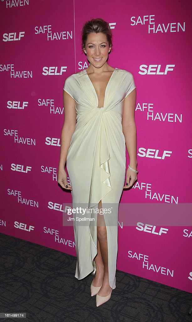 Singer Colbie Caillat attends the 'Safe Haven' premiere at Landmark's Sunshine Cinema on February 11, 2013 in New York City.