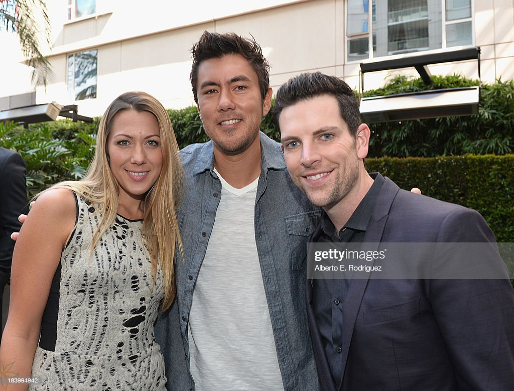 Singer Colbie Caillat, Justin Young and singer Chris Mann attend a ceremony honoring Kenny 'Babyface' Edmonds with the 2508th Star on the Hollywood Walk of Fame on October 10, 2013 in Hollywood, California.