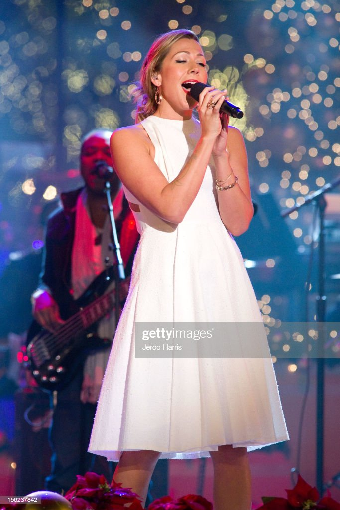 Singer Colbie Caillat performs at A Hollywood Christmas Celebration at The Grove on November 11, 2012 in Los Angeles, California.