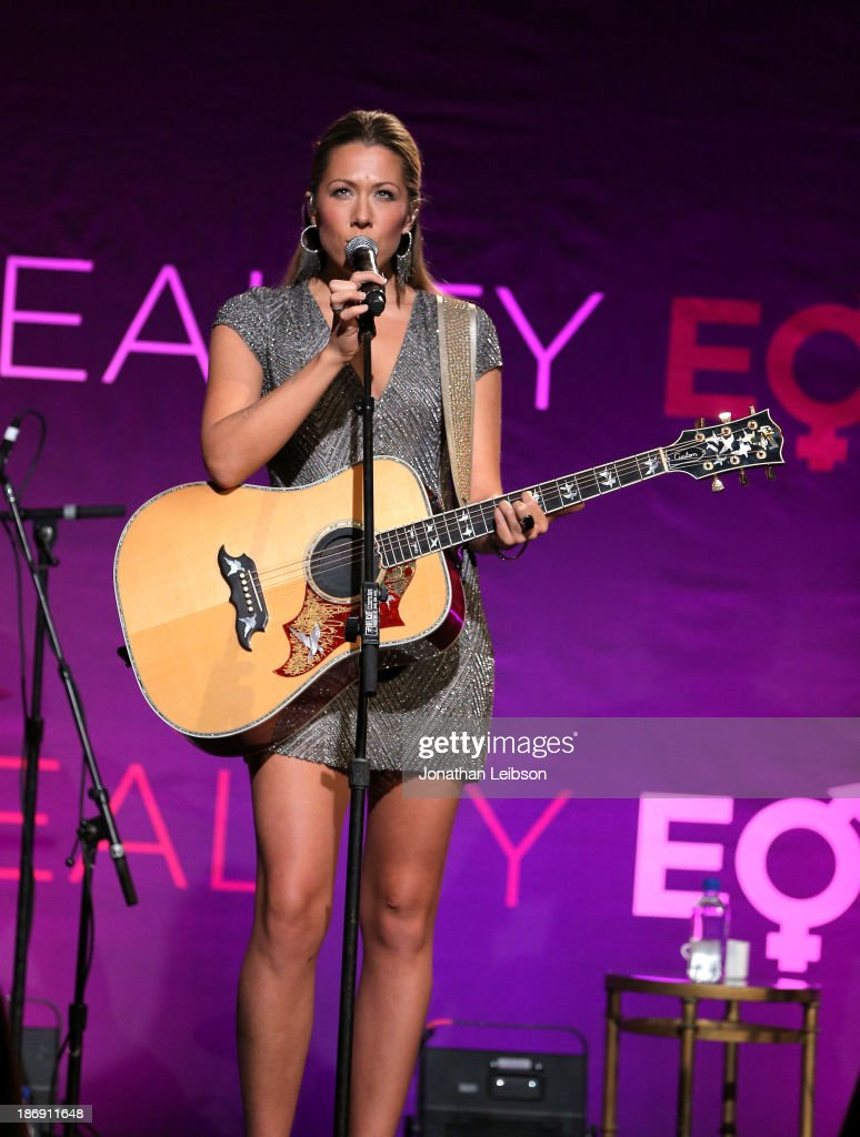 Singer <a gi-track='captionPersonalityLinkClicked' href=/galleries/search?phrase=Colbie+Caillat&family=editorial&specificpeople=4410812 ng-click='$event.stopPropagation()'>Colbie Caillat</a> performs onstage during Equality Now presents 'Make Equality Reality' at Montage Hotel on November 4, 2013 in Los Angeles, California.