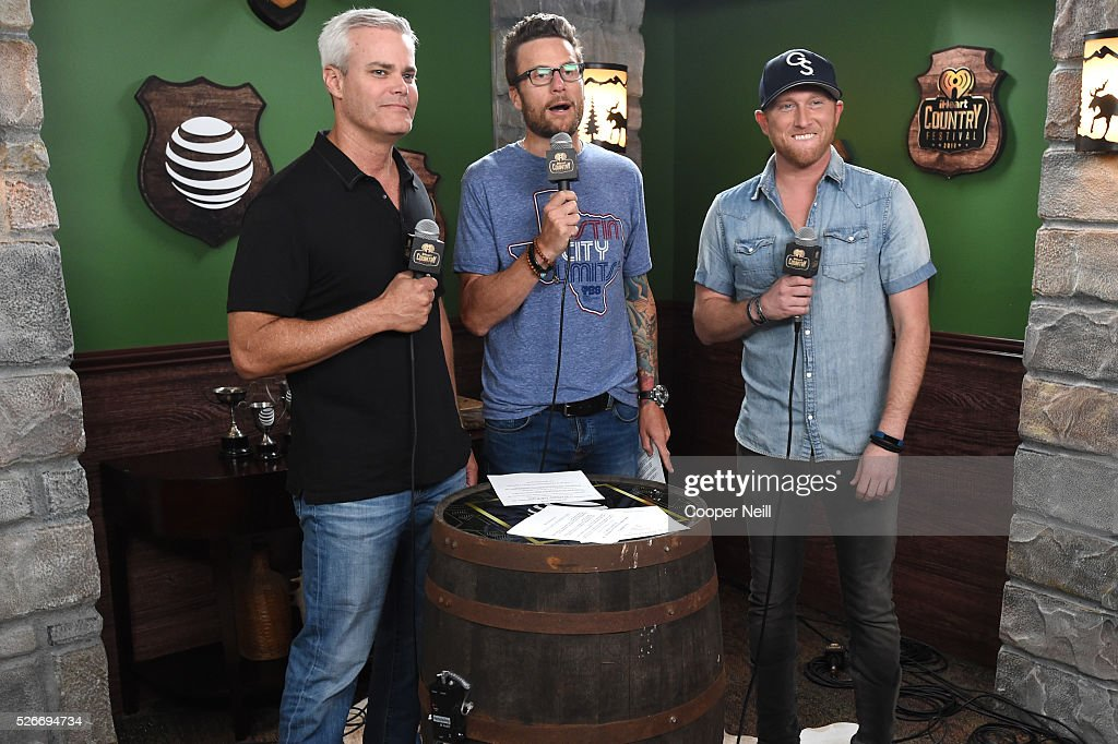 Singer Cole Swindell (R) attends the 2016 iHeartCountry Festival at The Frank Erwin Center on April 30, 2016 in Austin, Texas.