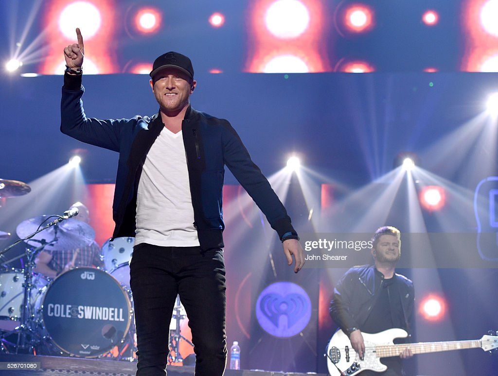 Singer Cole Swindell performs onstage during the 2016 iHeartCountry Festival at The Frank Erwin Center on April 30, 2016 in Austin, Texas.