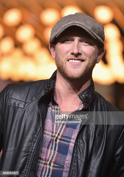 Singer Cole Swindell takes part in the 88th Annual Macy's Thanksgiving Day Parade day 2 rehearsals on November 25 2014 in New York City