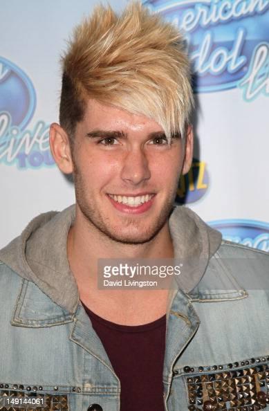 Singer Colton Dixon attends the American Idol Live Tour 2012 Phillip Phillips award presentation at Nokia Theatre LA Live on July 23 2012 in Los...