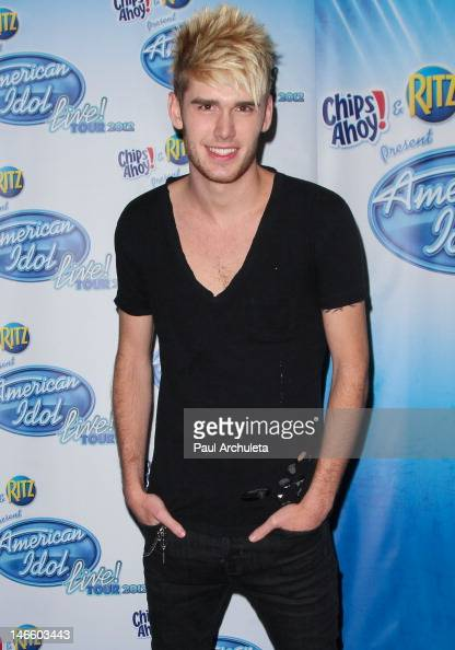 Singer Colton Dixon attends the American Idol Live tour 2012 press junket at Third Encore on June 20 2012 in North Hollywood California