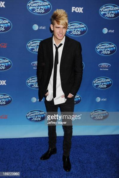 Singer Colton Dixon attends the FOX's 'American Idol' Season 12 Premiere at Royce Hall on the UCLA Campus on January 9 2013 in Westwood California