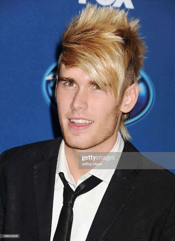 Singer <a gi-track='captionPersonalityLinkClicked' href=/galleries/search?phrase=Colton+Dixon&family=editorial&specificpeople=8953632 ng-click='$event.stopPropagation()'>Colton Dixon</a> attends the FOX's 'American Idol' Season 12 Premiere at Royce Hall on the UCLA Campus on January 9, 2013 in Westwood, California.