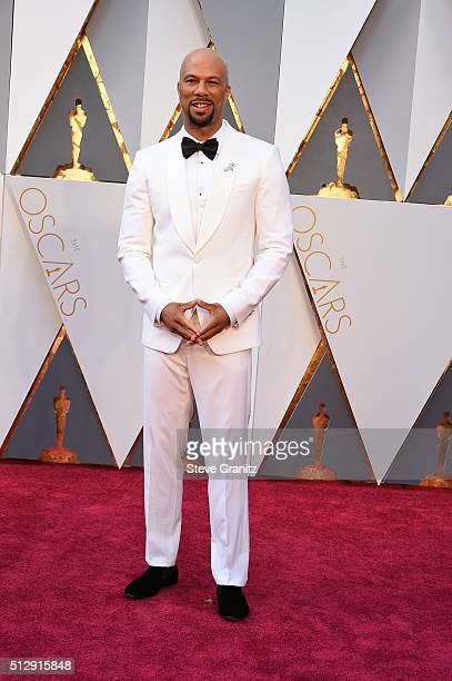 Singer Common attends the 88th Annual Academy Awards at Hollywood Highland Center on February 28 2016 in Hollywood California