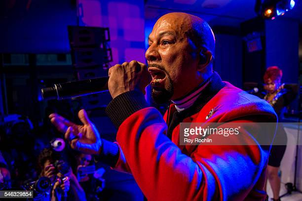 Singer Common performs during CFDA x Cadillac Opening Night Party of New York Fashion Week Men's S/S 2017 at Cadillac House on July 11 2016 in New...