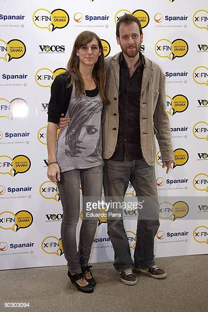 Singer Conchita and actor Edu Soto attend X1Fin Juntos por el Sahara photocall at Lectors Circle on October 23 2009 in Madrid Spain