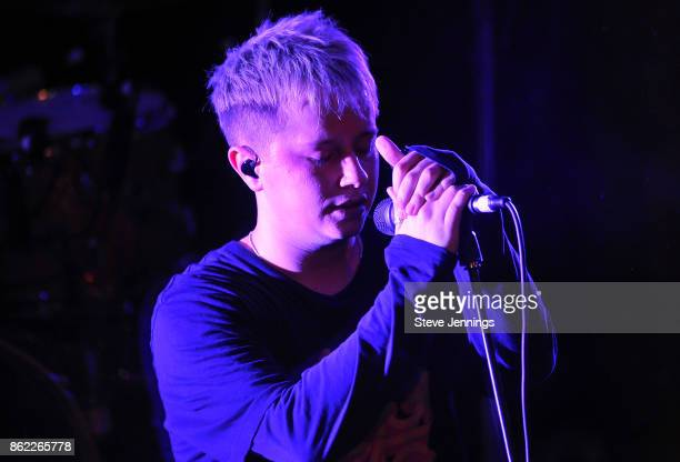 Singer Conor Mason of Nothing But Thieves performs in support of their new album release 'Broken Machine' at Great American Music Hall on October 16...