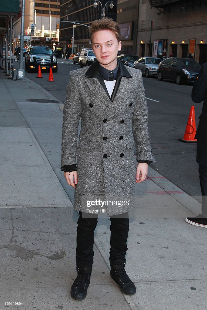 Singer Conor Maynard arrives at 'Late Show with David Letterman' at Ed Sullivan Theater on January 7, 2013 in New York City.