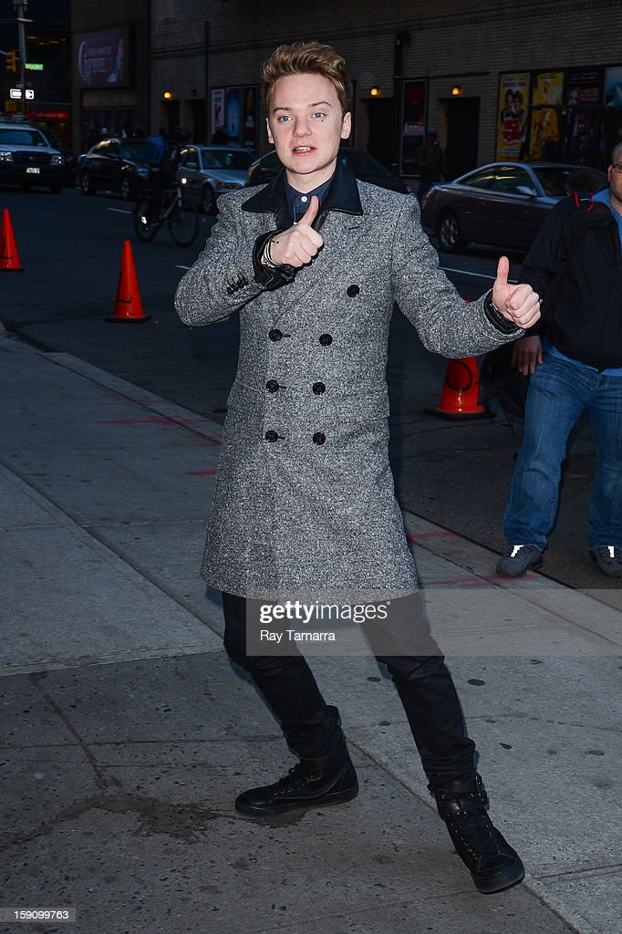 Singer Conor Maynard enters the 'Late Show With David Letterman' taping at the Ed Sullivan Theater on January 7, 2013 in New York City.
