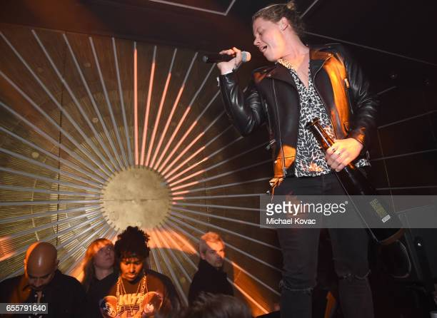 Singer Conrad Sewell performs on day three of TAO Beauty Essex Avenue and Luchini LA Grand Opening on March 18 2017 in Los Angeles California