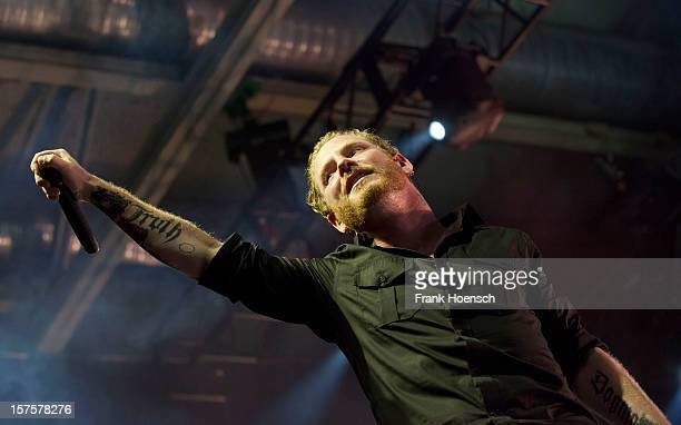 Singer Corey Taylor of Stone Sour performs live during a concert at the Columbiahalle on December 4 2012 in Berlin Germany
