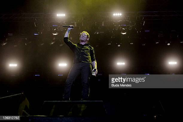Singer Corey Taylor of Stone Sour performs on stage during a concert in the Rock in Rio Festival on September 24 2011 in Rio de Janeiro Brazil Rock...