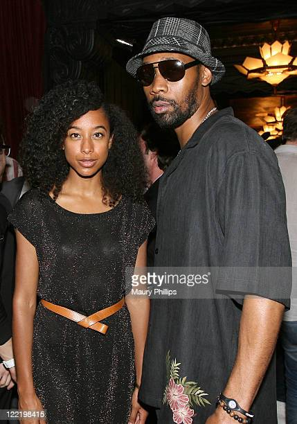 Singer Corinne Bailey Rae and rapper the RZA pose backstage during the 11th Annual BMI Urban Awards held at the Pantages Theatre on August 26 2011 in...
