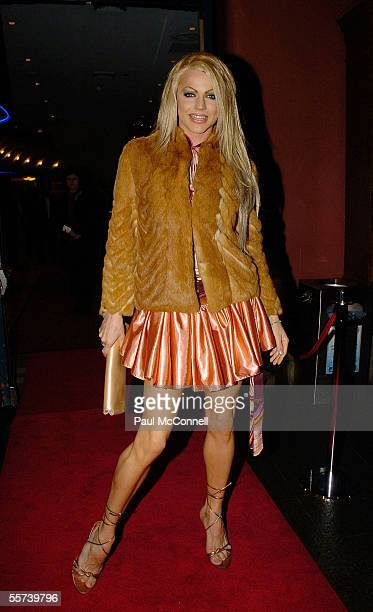 Singer Courtney Act attends the opening night of 'Fiddler on the Roof' at The Capitol Theatre on September 22 2005 in Sydney Australia
