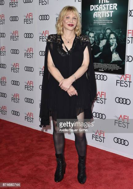 Singer Courtney Love arrives at the AFI FEST 2017 presented by Audi screening of 'The Disaster Artist' at TCL Chinese Theatre on November 12 2017 in...
