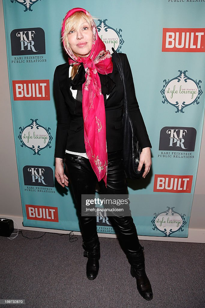 Singer Courtney Love attends Day 2 of the Kari Feinstein Style Lounge on January 19, 2013 in Park City, Utah.