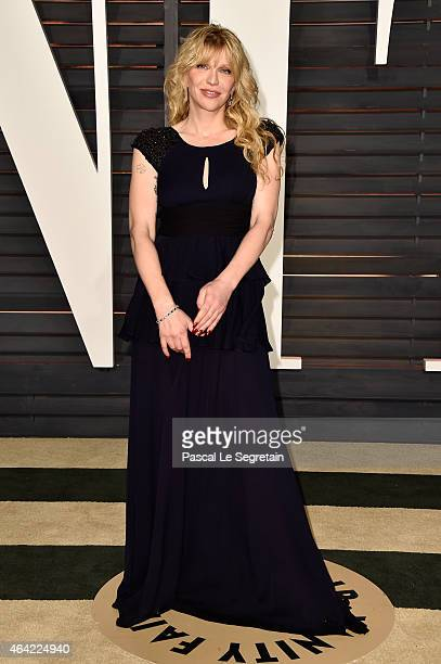 Singer Courtney Love attends the 2015 Vanity Fair Oscar Party hosted by Graydon Carter at Wallis Annenberg Center for the Performing Arts on February...