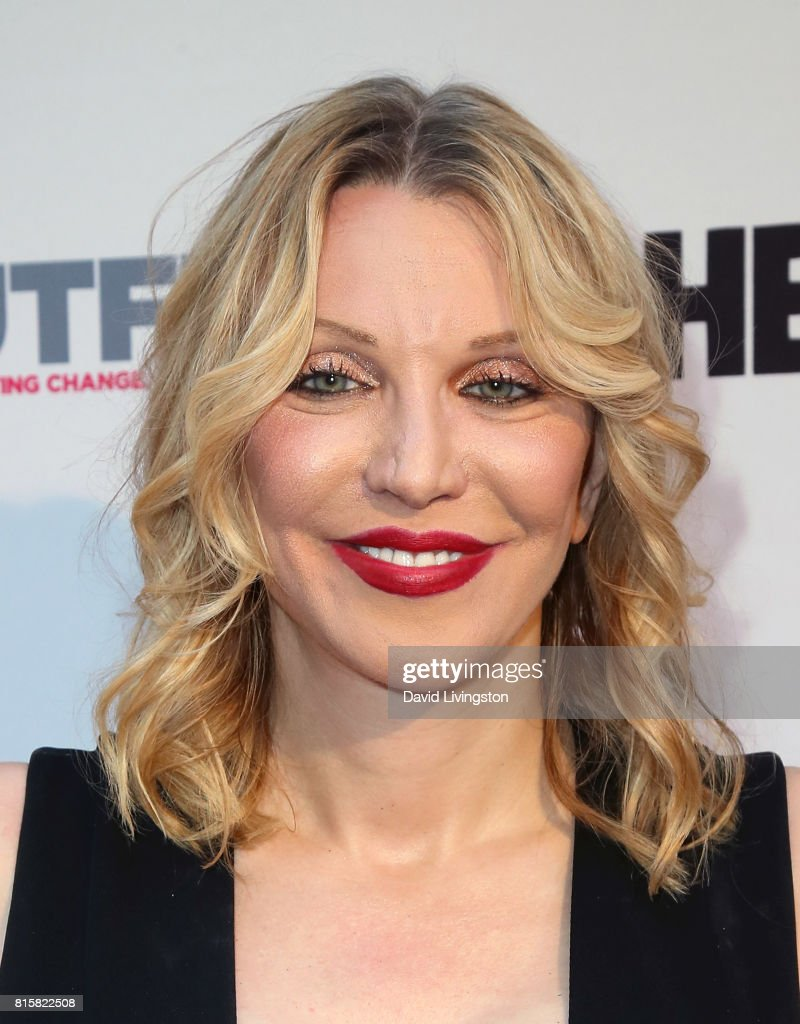 Singer Courtney Love attends the 2017 Outfest Los Angeles LGBT Film Festival closing night gala screening of 'Freak Show' at The Theatre at Ace Hotel on July 16, 2017 in Los Angeles, California.