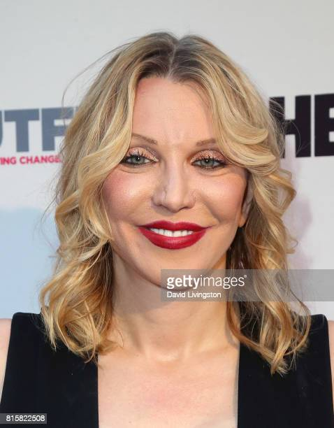 Singer Courtney Love attends the 2017 Outfest Los Angeles LGBT Film Festival closing night gala screening of 'Freak Show' at The Theatre at Ace Hotel...