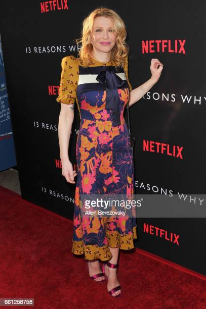 Singer Courtney Love attends the Premiere of Netflix's '13 Reasons Why' at Paramount Pictures on March 30 2017 in Los Angeles California