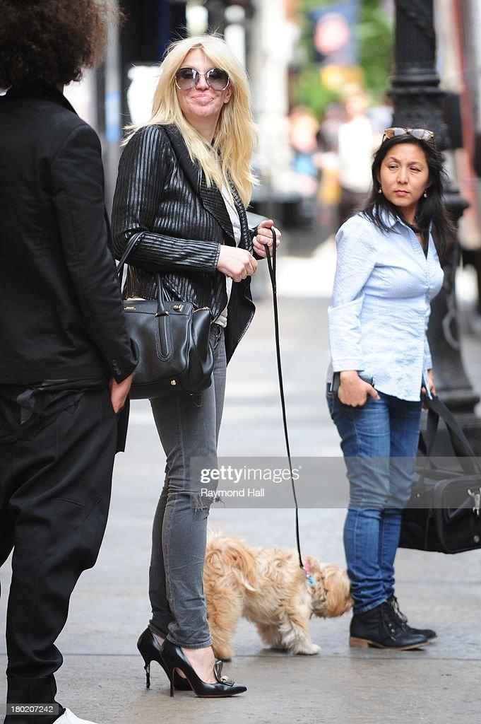 Singer Courtney Love is seen Soho on September 9, 2013 in New York City.