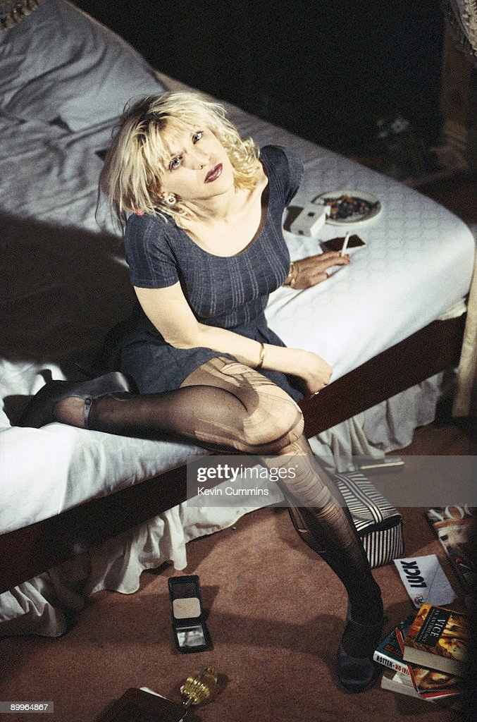 Singer Courtney Love of American rock group Hole, circa 1995.