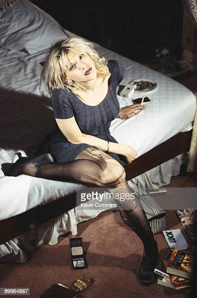 Singer Courtney Love of American rock group Hole circa 1995