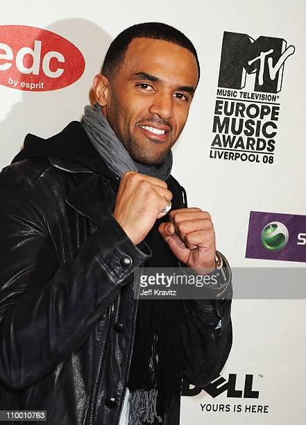 Singer Craig David arrives for the 2008 MTV Europe Music Awards held at at the Echo Arena on November 6 2008 in Liverpool England