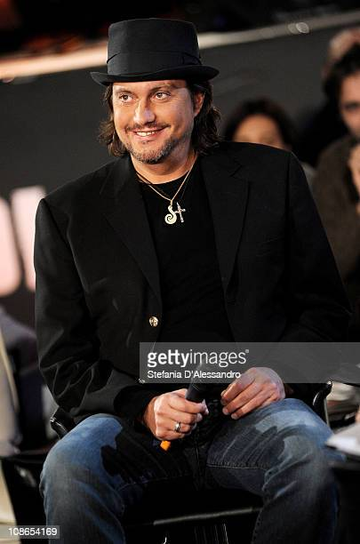 Singer Cristiano De Andre' attends RadioItaliaLive held at Radio Italia Studios on January 31 2011 in Milan Italy