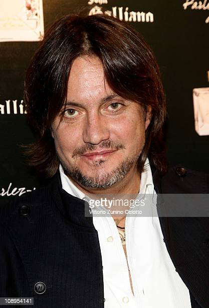 Singer Cristiano De Andre attends the John Galliano perfume launch held at the Plastic on February 9 2011 in Milan Italy