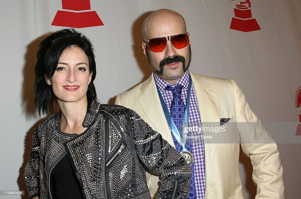 Singer <a gi-track='captionPersonalityLinkClicked' href=/galleries/search?phrase=CuCu+Diamantes&family=editorial&specificpeople=4032728 ng-click='$event.stopPropagation()'>CuCu Diamantes</a> and music producer Andres Levin arrive to the 8th Annual Latin GRAMMY Awards Person of the Year celebration at Mandalay Bay on November 7, 2007 in Las Vegas, Nevada.