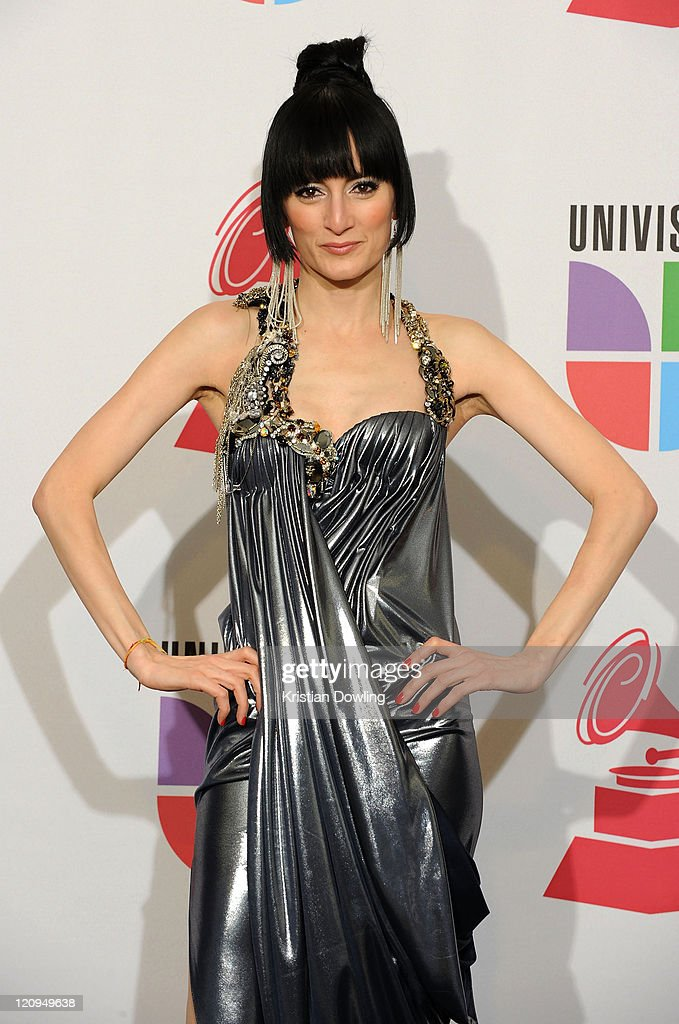 Singer Cucu Diamantes poses in the press room at the 10th Annual Latin GRAMMY Awards held at the Mandalay Bay Events Center on November 5, 2009 in Las Vegas, Nevada.