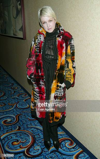 Singer Cyndi Lauper arrives at the 14th Annual GLAAD Media Awards at the Marriott Marquis April 7 2003 in New York City
