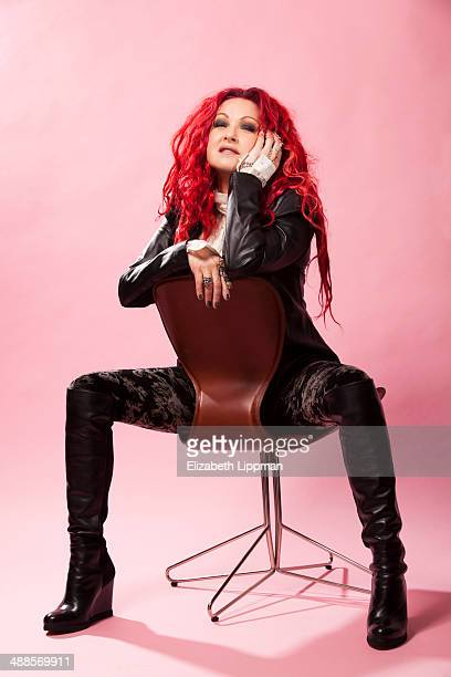 Singer Cyndi Lauper is photographed for Wall Street Journal on March 3 2014 in New York City