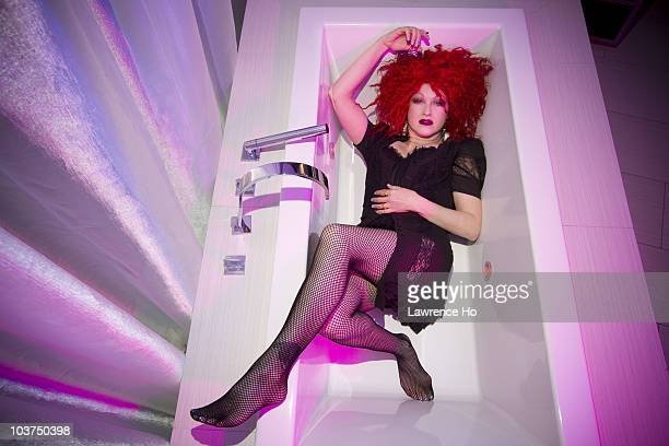 Singer Cyndi Lauper poses for a portait session on August 22 2010 at the Hard Rock Hotel in San Diego CA Published Image CREDIT MUST READ Lawrence...