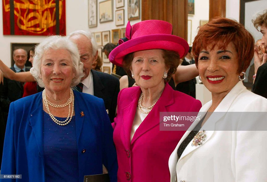 Singer Dame Vera Lynn, Lady Thatcher and singer Dame Shirley Bassey at the Royal Academy arts reception party to mark the Queen's Golden Jubilee.Celebrities