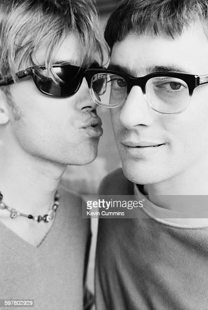 Singer Damon Albarn and guitarist Graham Coxon of English pop group Blur Hammersmith London 22nd August 1995