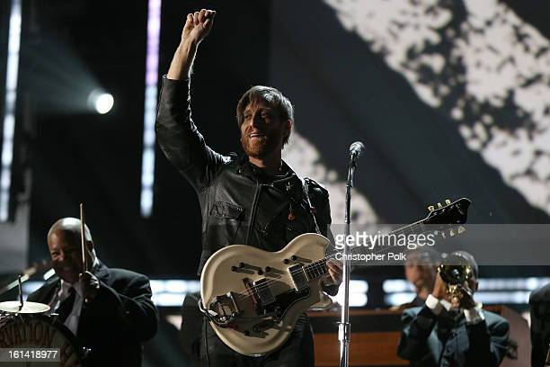 Singer Dan Auerbach of the Black Keys performs onstage during the 55th Annual GRAMMY Awards at STAPLES Center on February 10 2013 in Los Angeles...