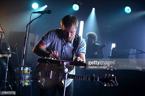 Singer Dan Auerbach of The Black Keys performs onstage during the iHeartRadio LIVE performance and QA with The Black Keys at iHeartRadio Theater on...